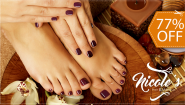 [Imagen:¡Paga $12 en lugar de $52 por Manicure Spa + Pedicure Spa + Maquillaje Permanente OPI en Manos y Pies en Nicole's Salon and Day Spa!]
