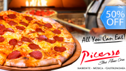 [Imagen:¡Paga Q84 en lugar de Q168 por ALL YOU CAN EAT de Pizza Artesanal a Elección entre Margherita, Pepperoni, Jamón o Queso!]